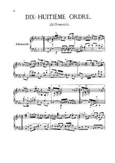 Dix-huitième ordre: Complete set by François Couperin