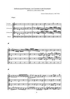 Sinfonia avanti l'Oratorio La Morte delusa: Sinfonia avanti l'Oratorio La Morte delusa by Giovanni Battista Bassani