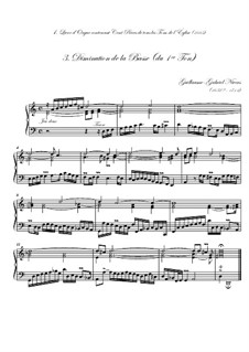 Premier livre d'orgue: No.3 Diminution de la basse by Guillaume-Gabriel Nivers