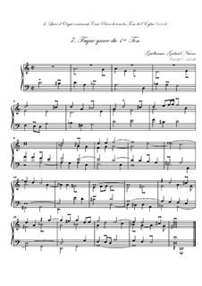 Premier livre d'orgue: No.7 Fugue grave by Guillaume-Gabriel Nivers