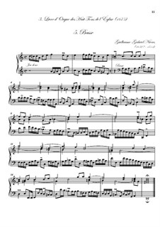 Troisième livre d'orgue: No.5 Basse by Guillaume-Gabriel Nivers