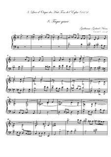 Troisième livre d'orgue: No.8 Fugue grave by Guillaume-Gabriel Nivers