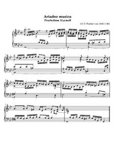 Ariadne Musica: Prelude No.12 in G Minor by Johann Caspar Ferdinand Fischer