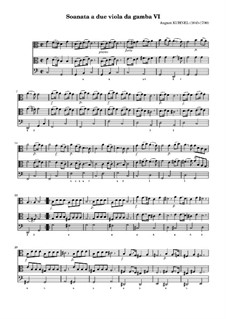 Sonata for Two Violas da gamba and Basso Continuo No.6 in C Major: Sonata for Two Violas da gamba and Basso Continuo No.6 in C Major by August Kühnel