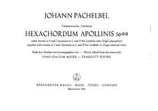 Four Pieces: Four Pieces by Johann Pachelbel