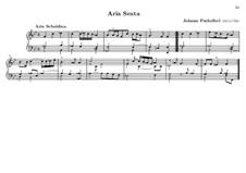 Hexachordum Apollinis (Six Strings of Apollo): Aria sexta by Johann Pachelbel