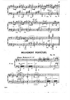 Etude (Mouvement Perpétuel), Op.18: Etude (Mouvement Perpétuel) by Jean-Henri Ravina
