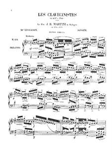 Sonata for Harpsichord (or Piano) in C Major: Sonata for Harpsichord (or Piano) in C Major by Giovanni Battista Martini