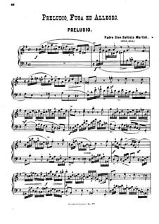 Prelude, Fugue and Allegro: Prelude, Fugue and Allegro by Giovanni Battista Martini