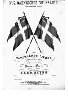 Danish Folk Song: For piano by folklore