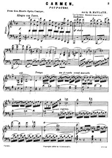 Potpourri on Themes from 'Carmen' by G. Bizet: For a single performer by Henry Maylath