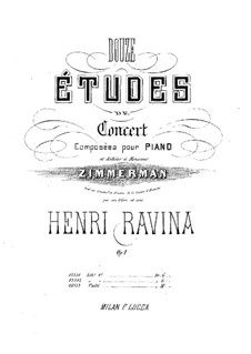 Twelve Concert Etudes, Op.1: Twelve Concert Etudes by Jean-Henri Ravina