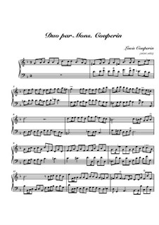 Duo for Harpsichord: Duo for Harpsichord by Louis Couperin