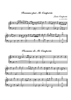 Two Psalms for Harpsichord: Two Psalms for Harpsichord by Louis Couperin