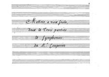 Motets: Motets by François Couperin