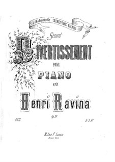 Divertissement No.2, Op.16: For piano by Jean-Henri Ravina