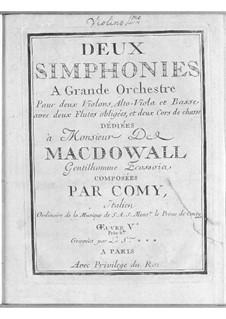 Two Symphonies, Op.5: Two Symphonies by Gaudenzio Comi