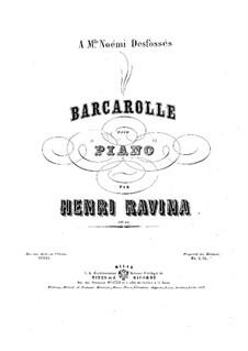 Barcarolle, Op.24: Barcarolle by Jean-Henri Ravina