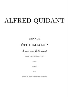 Grand Etude-Galop, Op.21: For piano (high quality sheet music) by Alfred Quidant