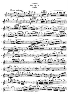 Trio for Three Flutes, Op.24: Parts by Kaspar Kummer