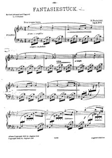 Two Pieces for Piano, Op.2: No.1 Fantasiestück (Fantastic Piece) by Henryk Pachulski