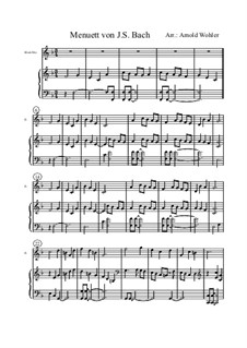 Minuet in F Major for Flute and Piano: Minuet in F Major for Flute and Piano by Johann Sebastian Bach