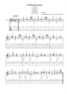 Dog Waltz: For guitar by folklore