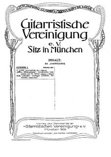 Selected Pieces for Guitar: Volume XII, No.1 by Friedrich Silcher, Adam Darr, Ermenegildo Carosio