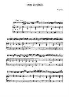 Moto Perpetuo for Violin and Piano in C Major, Op.11: Score by Niccolò Paganini
