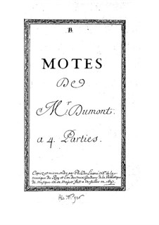 Motets for Voices and Basso Continuo: Motets for Voices and Basso Continuo by Henry Du Mont