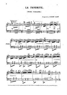 La favourite. Polka Elegant for Piano: La favourite. Polka Elegant for Piano by Joseph Joachim Raff
