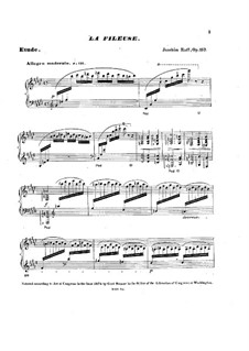 Two Pieces for Piano, Op.157: No.2 La Fileuse (The Spinning Girl) by Joseph Joachim Raff