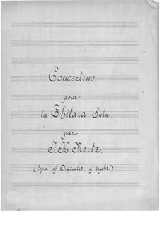 Concertino for Guitar: Concertino for Guitar by Johann Kaspar Mertz