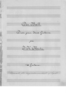 Der Ball. Duo for Two Guitars: Parts by Johann Kaspar Mertz