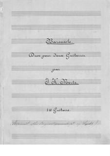 Barcarole and Impromptu for Two Guitars: Parts by Johann Kaspar Mertz