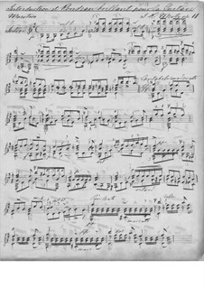 Introduction and Rondo Brilliant, Op.11: For guitar (manuscript) by Johann Kaspar Mertz