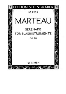 Serenade for Winds, Op.20: Parts by Henri Marteau