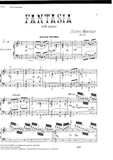 Fantasia for Piano Four Hands, Op.32: Fantasia for Piano Four Hands by Giuseppe Martucci