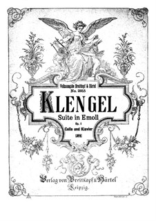 Suite for Cello and Piano, Op.1: Score by Julius Klengel