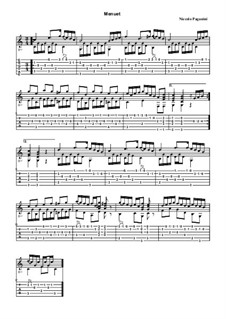 Minuet for Guitar: Minuet for Guitar by Niccolò Paganini
