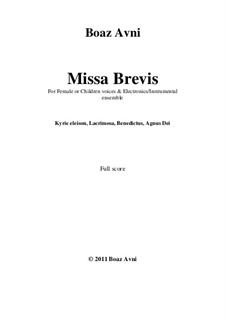 Missa Brevis: Missa Brevis by Boaz Avni