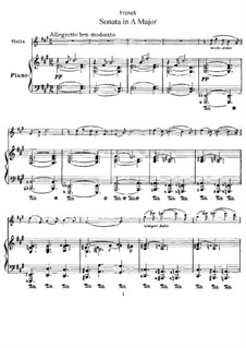 Sonata for Violin and Piano in A Major, M.8 FWV 8: Movements I-III by César Franck