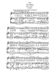 Six Songs, Op.17: Complete set by Robert Franz