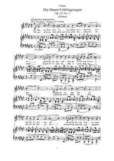 Six Songs, Op.20: Complete set by Robert Franz