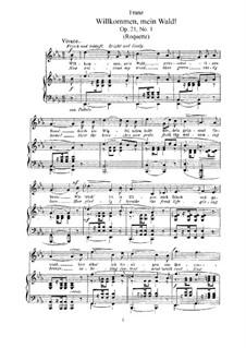 Six Songs, Op.21: Complete set by Robert Franz