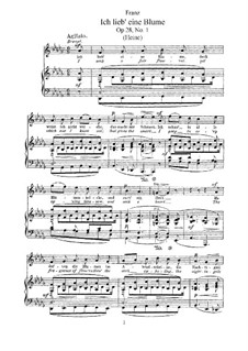 Six Songs, Op.28: Complete set by Robert Franz
