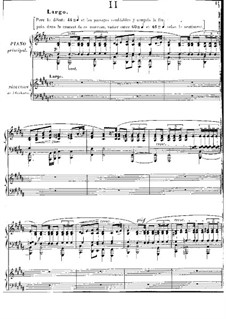 Piano Concerto in E Flat Major: Movement II. Version for two pianos four hands by Jules Massenet