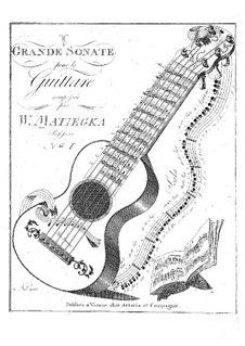 Two Grand Sonatas: Sonata No.1 by Wenzel Thomas Matiegka