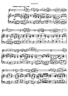 Sonata No.11: Version for flute and piano, solo part by Johann Mattheson