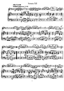 Sonata No.12: Version for flute and piano, solo part by Johann Mattheson